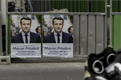 From flickr.com: Macron President, Emmanuel Macron campaign poster, Paris {MID-87566}