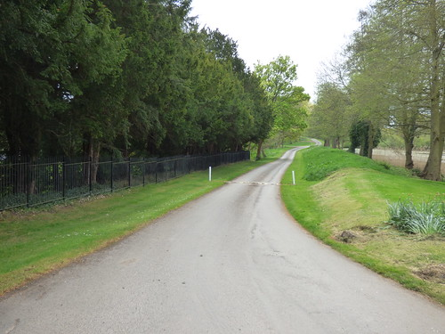 Arbury Hall - private road