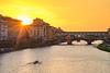 (Andreas.W.) Tags: eveningsun eveningmood sunrays sunset tuscany toscana toskana firenze florence ponte veccio ruderer rower bridge brücke