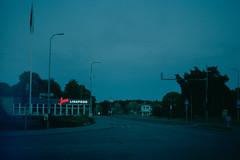 20170109 (Johann Kööp) Tags: 35mm colour film blue tallinn estonia morning early dark cloudy darkness emptiness quiet silence fujifilm shoot canon ae1 light sign street streets urban landscape cinematic city
