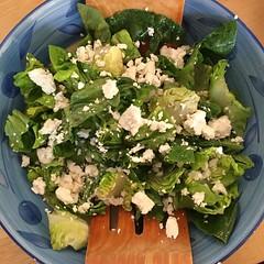 Feta and little gem salad.