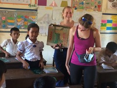 Visit to Osaka-Sonezaki Dream School, Cambodia