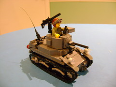 Custom Lego Stuart M3A1 4th Prototype (tekmoc17) Tags: tank lego brick usa stuart m3a1 ww2 war custom moc