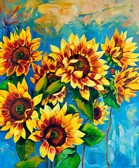 Sunflowers (wallmistwallpaper) Tags: abstract agriculture art artistic artwork background beautiful beauty blossom blue bright brown canvas color colorful decoration design drawing field floral flower garden green head illustration image leaf nature oil orange painting pattern petals picture plant plants realistic red retro seeds spring still style summer sun sunflower texture vase vintage yellow