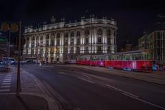 Red & Night colors (karinavera) Tags: travel sonya7r2 vienna wien austria street night transport urban architecture