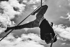 Alfa Marks Solo (real ramona) Tags: flown minack poc circus cornwall alfa rope aerial aerialartists sky acrobatic