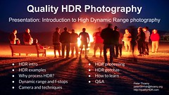 Quality HDR Photography Presentation: Introduction to HDR (PeterThoeny) Tags: presentation hdr highdynamicrange photography highdynamicrangephotography introduction tutorial hdrtutorial learn learnhdr poster fav50