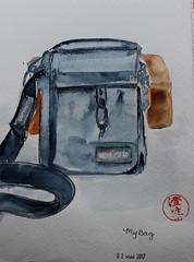 May 2 My Bag (cheesemoopsie) Tags: aquarelle watercolor painting bag purse eastpak