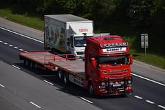 YJ14 EZS (markkirk85) Tags: lorries lorry truck trucks a1 motorway a1m alconbury scania r580 h e boak yj14 ezs yj14ezs