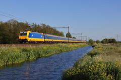 NS 186 044, Delft, 08-05-2017 (frank_e186) Tags: rail railway trein spoor spoorwegen bahn eisenbahn zug ns traxx bombardier ms2e f140 ms kassel delft zuid 186 044 ic 1162 e186