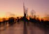 Fun (terri-t) Tags: frankfurt city cityscape sunset colors skyline bridge water river germany landscape zoom experiment long exposure ignatzbubisbrücke commerzbank