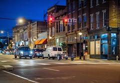 Dusk at 17th and Main (Sky Noir) Tags: city urban night citylights street rva richmond va virginia