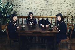 Asylum II (Dara Scully) Tags: child children students college asylum portrait film grain cinematic ritual tea suggestive disturbing
