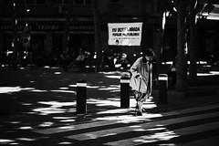 Enlightened (elgunto) Tags: street people streetphotography light shadows highcontrast blackwhite bw sonya7 samyang samyang85mm14