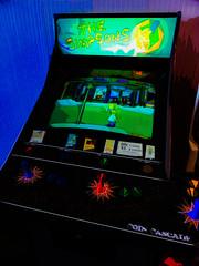 The Simpsons (Steve Taylor (Photography)) Tags: simpsons coincascade arcade 60c game 1 button controller screen homer street abstract newzealand christchurch nz art digital black blue brown contrast green impressionist
