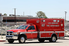LAFD Ambulance 827 (adelaidefire) Tags: lafd los angeles city fire department ambulance dodge