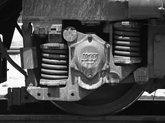 Detail from a Turkish Railways' DE24000 Class locomotive, Sincan (Ankara) (Steve Hobson) Tags: turkish railways tcdd sincan ankara de24000 mte tulomsas spring suspension axle wheel rail