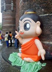 Buddha's Birthday06 (Quetzalcoatl002) Tags: buddha birthday buddhism festival nieuwmarkt amsterdam chinatown baby waag