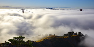 Rolling Fog|Golden Gate Bridge, view from Marin Headlands
