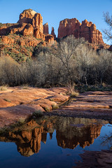 Cathedral Rock (jm.weeden) Tags: arizona water usa landscape landscapes puddle lake blue sunset golden composition camera exposure park west midwest hot spring winter trees nature wild outdoor outdoors orange yellow red redrocks hiking reflection double canon light sky weather atmosphere art beautiful beauty picoftheday likeforlike followforfollow air white summer color colors vibrant river new world sunny sun sol wet digital cielo colorful rock landschaft eos mer bright