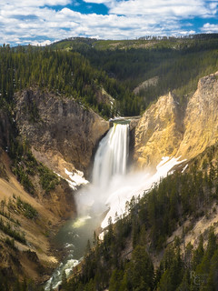 Falling Water In Yellowstone