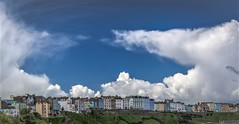 Sky over Wales (zoomleeuwtje) Tags: wales tenby clouds blue colour
