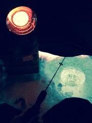 Ice Fishing January 2017 (TanMusyj) Tags: uglystik rod jackfish glow fish water heater propane ice fire orange blue vibrant ministikwan iceshack contrast icefishing fishing