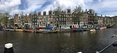 Prinsengracht pano (Mimi_K) Tags: canal prinsengracht panorama canalhouses