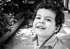 Happiness is... (OneMarie!) Tags: kid smiling niño sonrisa retrato portrait bn bw curly hair home love baby boy nikon d7100 fotografía photography