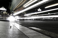 Untitled1 (aclapes) Tags: trafficlights crossing cars lights road paviment multiple exposureshots shutterspeeds shadows desaturation almostblackandwhite streetphotography canon dslr 700d canonistas barcelona city passeigdegracia nightphotography night