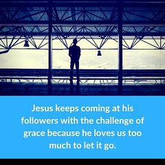 """""""Jesus keeps coming at his followers with the challenge of grace because he loves us too much to let it go."""" New sermon podcast: Deep Grace and Childlike Faith. Listen at http://ift.tt/1FC0mOe (rcokc) Tags: jesuskeepscomingathisfollowerswiththechallengeofgracebecausehelovesustoomuchtoletitgo new sermon podcast deep grace childlike faith listen redemptionokccomsermons"""