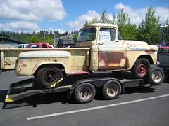 1958 Chevrolet Apache (Hugo-90) Tags: monroe washington auto automobile car event vehicle swap meet flea market 1958 chevrolet 34 ton pickup truck apache