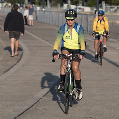 Two wheeling (OzzRod) Tags: pentax k1 tair11a135mmf28 таир11а cyclist recreation promenade foreshore honeysuckle newcastle