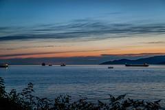 sunset on the Burrard inlet (dorinser) Tags: sunset britishcolumbia canada vancouver stanleypark burrardinlet