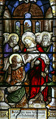 My Lord and My God (Lawrence OP) Tags: biblical resurrection stthomas risen lord jesuschrist stainedglass cambridge gonvilleandcaius faith apostles