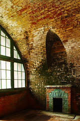 Forgotten Hearth (The_Random_Photographer) Tags: hearth fire light shadow sdq 1750mm foveon sigma red green window arch lichen brick fireplace