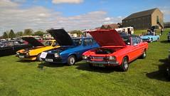 ford capri mk1, mk2 and mk3 (xr282) Tags: ripon racecourse classic car show ford capri mk1 mk2 mk3