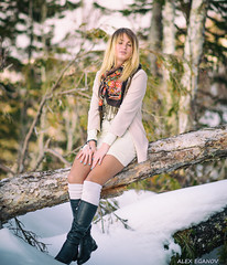 Маша (alex.eganov) Tags: portrait nikon girl sakhalin russia snow sunset nikond750 nikon85mmf18 девушка портрет сахалин