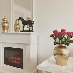 #flowers #friday #vase #white #horse #black #gold (gaziza2) Tags: instagramapp square squareformat iphoneography uploaded:by=instagram reyes