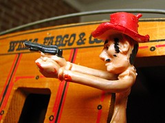 Macro Mondays - Crime (Daryll90ca) Tags: macromondays hmm cowboy crime stagecoach wellsfargo wellsfargoco