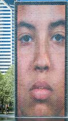 Crown Fountain (pattyg24) Tags: chicago crownfountain illinois milenniumpark art face park
