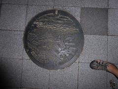 Shirakawa-jou manhole (Stop carbon pollution) Tags: japan 日本 honshuu 本州 touhoku 東北 fukushimaken 福島県