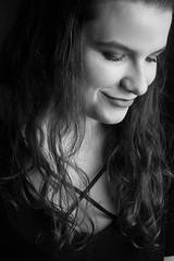 (annieczech) Tags: bnw blackandwhite canon canoneos1200d 1200d 50mm 50mm18 atelier girl smile monochromatic portrait