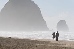 Cannon Beach (George Baritakis) Tags: beach travel sea ocean day daylight travelling usa blue waves roadtrip oregon west