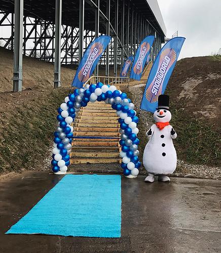 100mm blauw openingslint onbedrukt Snowworld Zoetermeer