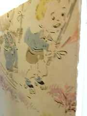 Wall paper on the inside of the Amityville Windows I purchased. (amityville2) Tags: amityville movie 2005 horror memorabilia antique prop facade ryan reynolds melissa george chloe moretz windows stage haunted haunting ghost jimmy bennet rachel nichols philip baker hall jesse james isabel conner michael bay lutz defeo wisconsin ny milwaukee kenosha chicago collector hollywood news awakening 2017 thorne bella walworth