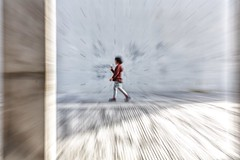 Fast forward in slow motion ~ shanghai (~mimo~) Tags: longmuseum photography street westbund zoom movement blur girl asia china shanghai