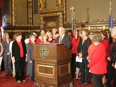 DFL Women with Gov. Dayton and Lt. Gov. Smith, May 11