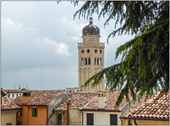 Rooftops and Bell Tower (Mabacam) Tags: 2017 italy northernitaly veneto conegliano proseccohills rooftops tiles belltower dome duomo cathedral