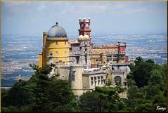 Palacio de la Pena (Sintra, Portugal, 12-7-2010) (Juanje Orío) Tags: portugal sintra 2010 palacio palace patrimoniodelahumanidad patrimonioedificadodeportugal worldheritage whl0723 europeanunion europa castillo castle europe